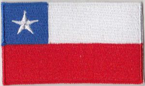 Chile Embroidered Flag Patch, style 04.